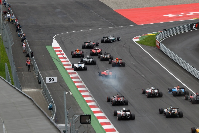 The frantic start to the Austrian Grand Prix