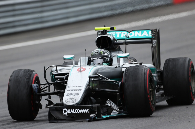 Rosberg limping around the final lap in Austria to secure P4.