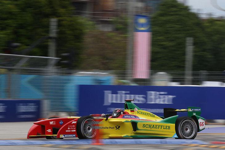 Daniel Abt racing at the 2015 Malaysian Grand Prix