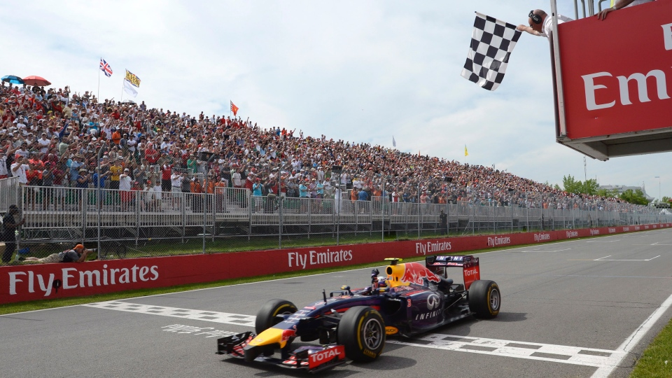 Daniel Ricciardo of Infiniti Red Bull Racing takes his first career F1 race win in front of the amazing Canadian F1 fans.