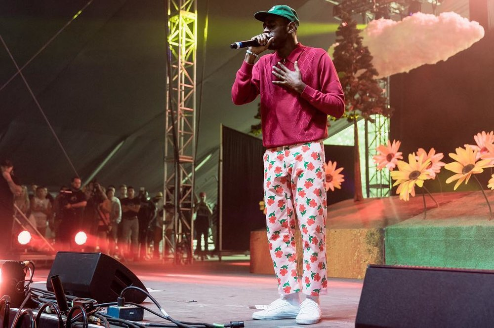Tyler performing at Panorama Festival in New York City last weekend.