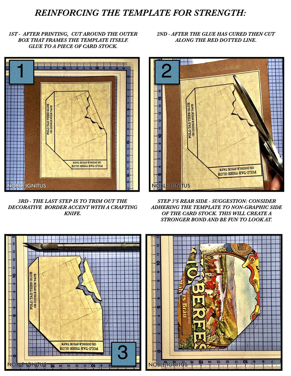 Instructional for Reinforcing the Template