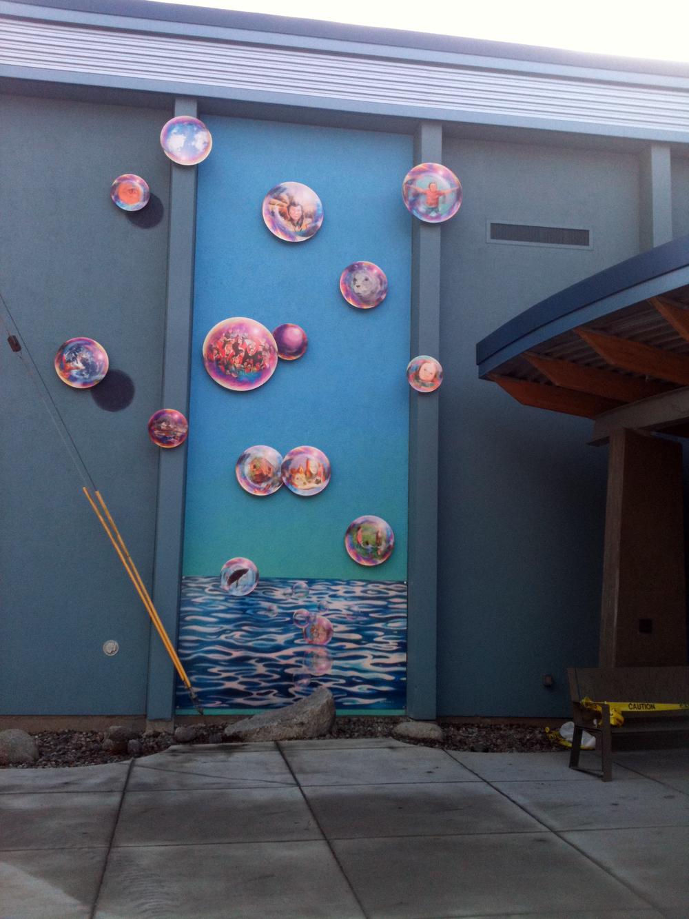 """Imagination"" digital powdercoated aluminum  2010, Harborview Elementary Juneau"