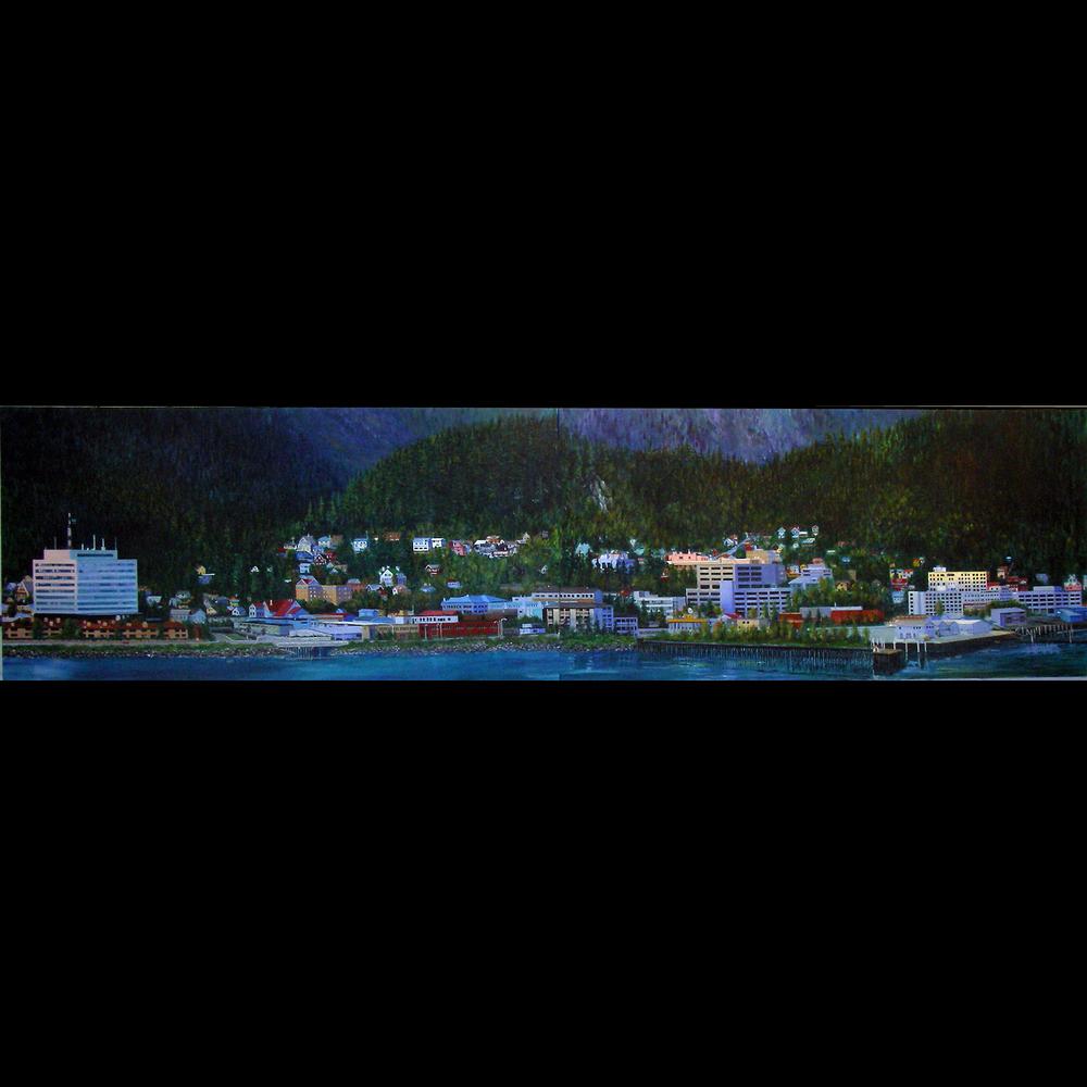 """Preci[pitation"" detail Juneau cityscape"