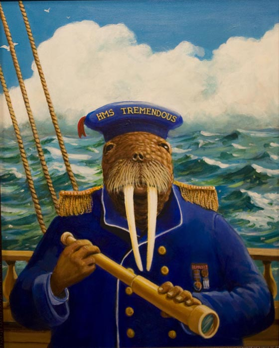 """Capt. Clamraker"" 16""x20"" oil"