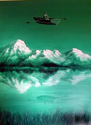 """Lake Amnesia Remembered"" 2'x3'"