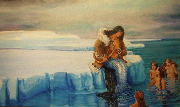 """Mermaids, Cape Espenberg"" 2'x3'"