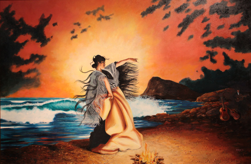 """""""El Jaleo, Cape Yakutaga"""", 6'x4' oil"""