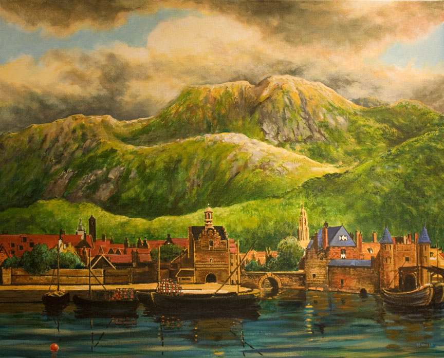 """Nieuw Dutch Harbor, Alaska"" 3'x4' oil"