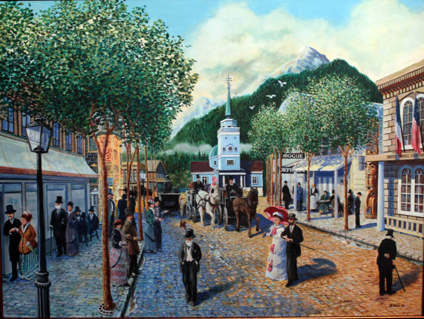 """Sitka, Paris of the Pacific"" 3'x4', oil"
