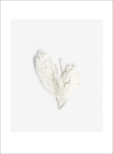 "Tissue 20, © Julia Vandenover. Archival Inkjet print.  4.5"" x 5.5"" image on 5.5"" x 7.5"" paper.  Printed on Hahnemuhle Photo Rag Satin, 310 gsm 100% Cotton, white, satin-finish. Signed."