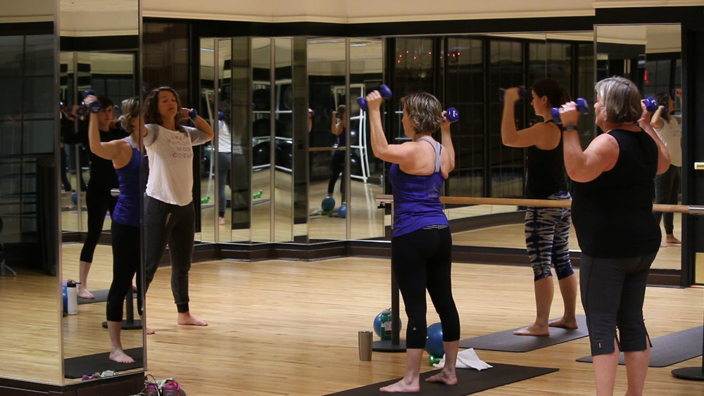 Total Barre Group Fitness Class Saint Paul Athletic Club Downtown Minnesota