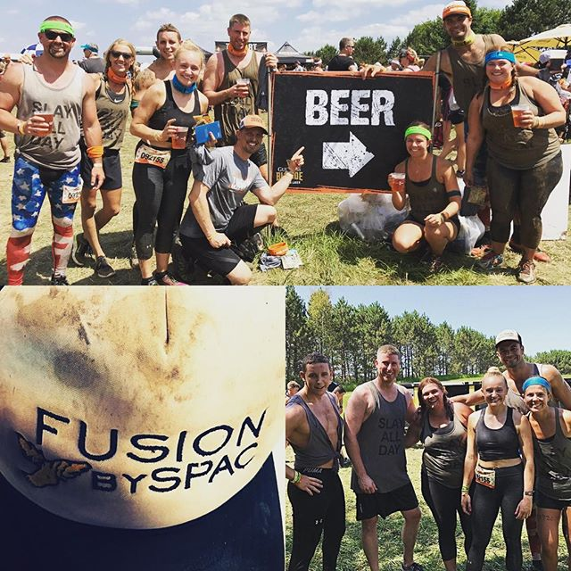 Tough mudder ain't got s*** on team SPAC Attack! Even the hat made it through the whole event 🙊#toughmudder2017 #fusionbyspac #Cardio #hills #obsticles #fitness #FitFam #workedit #muddy #snotrocket #HealthyLife #beer #guiness #jogging #running #crushedit #teamworkmakesthedreamwork