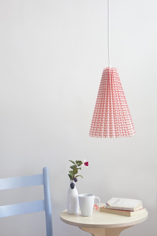 DIY No Sew Fabric Lampshade