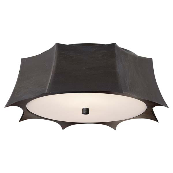 Peter Crown Flush Mount Circa Lighting on Meridian Abbey