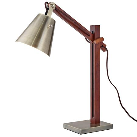 Modern Rustic Walnut Desk Lamp at ShadesofLight on Meridian Abbey