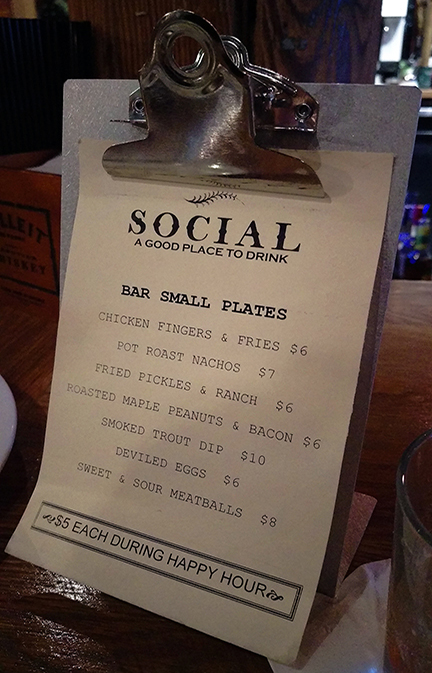 Social Menu, Chattanooga - Meridian Abbey