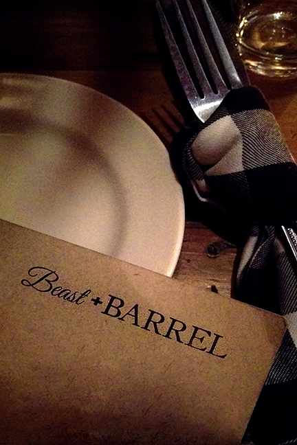 Beast and Barrel Place setting, Chattanooga - Meridian Abbey