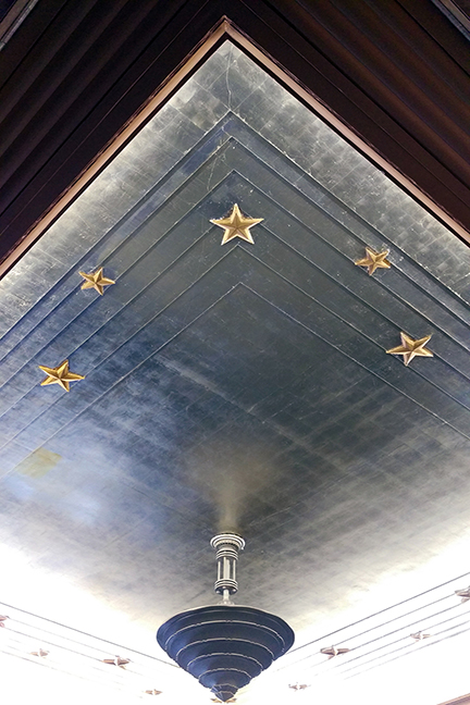 Silver Ceiling Treatment in Post Office, Chattanooga - Meridian Abbey
