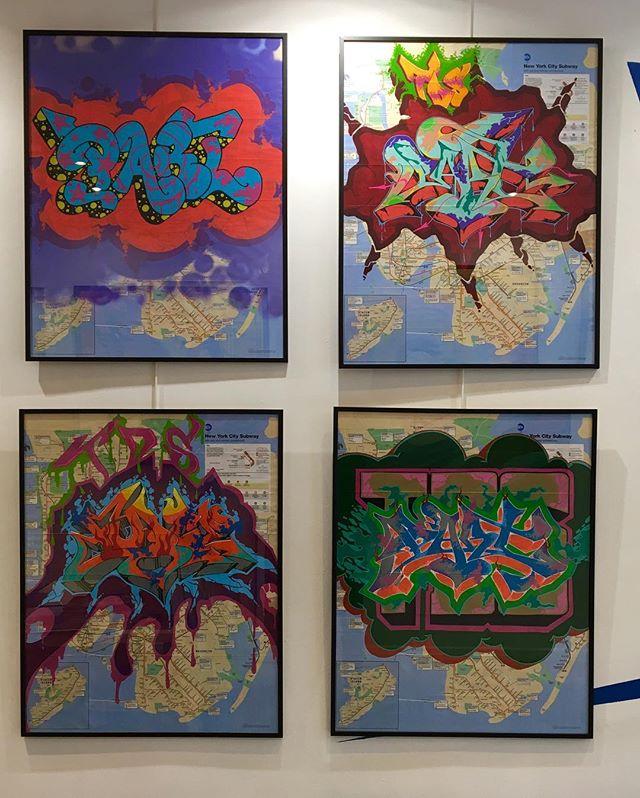 Maps are arrived🔥🔥🔥@partonetds #artkanoid_gallery #graffiti #graffitiart #partone #streetart #streetartist #map #subway #nyc #contemporaryart #amazing
