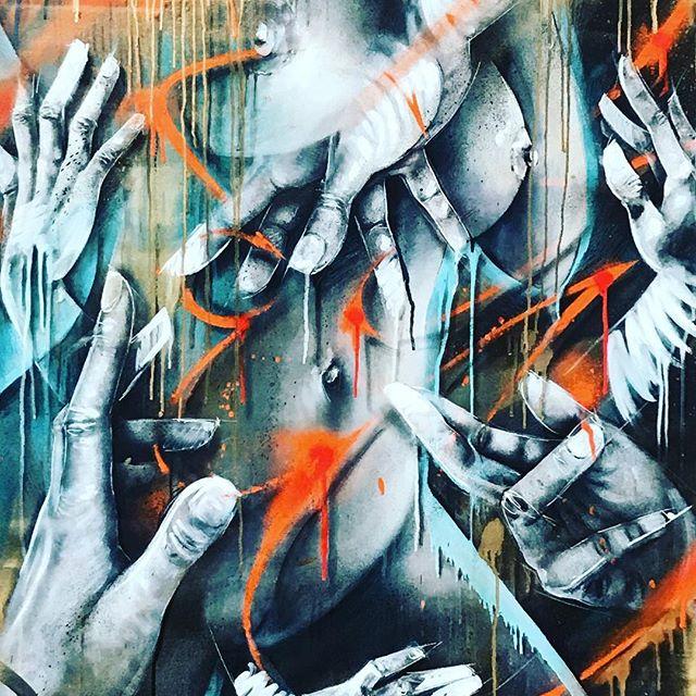 Shoutout to Miss Scotie @scotie_ad #french #graffiti #streetart #graffitiart #contemporaryart #art #colorful #it #girl #paint #artkanoid_gallery