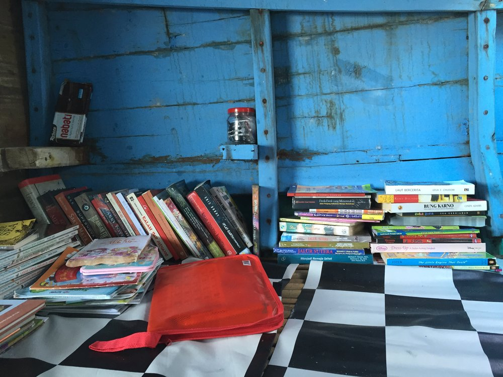 - Day 4/5: Before we fly back to Jakarta, we visit two more incredible spaces. The first: Tanah Indie, a small press set up by Anwar Rachman, as well as a research institute slash library slash place for writers and artists to talk and co-conspire. The second: a mobile boat library, which travels to remote islands across South, Central and West Sulawesi in an effort to promote literacy and reading for pleasure.