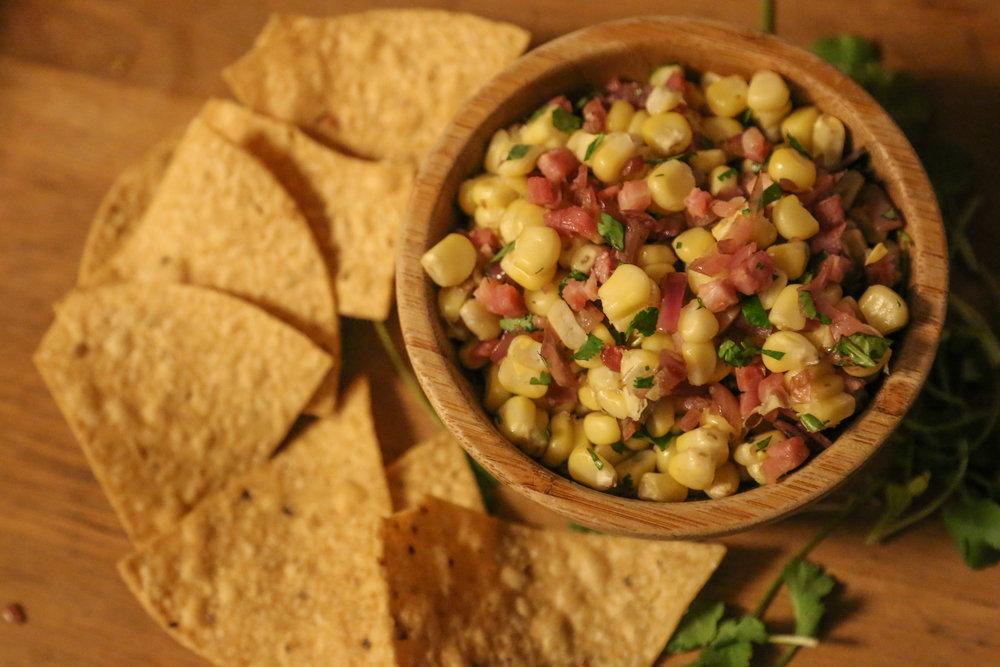 Sweet Corn and Pancetta Salsa