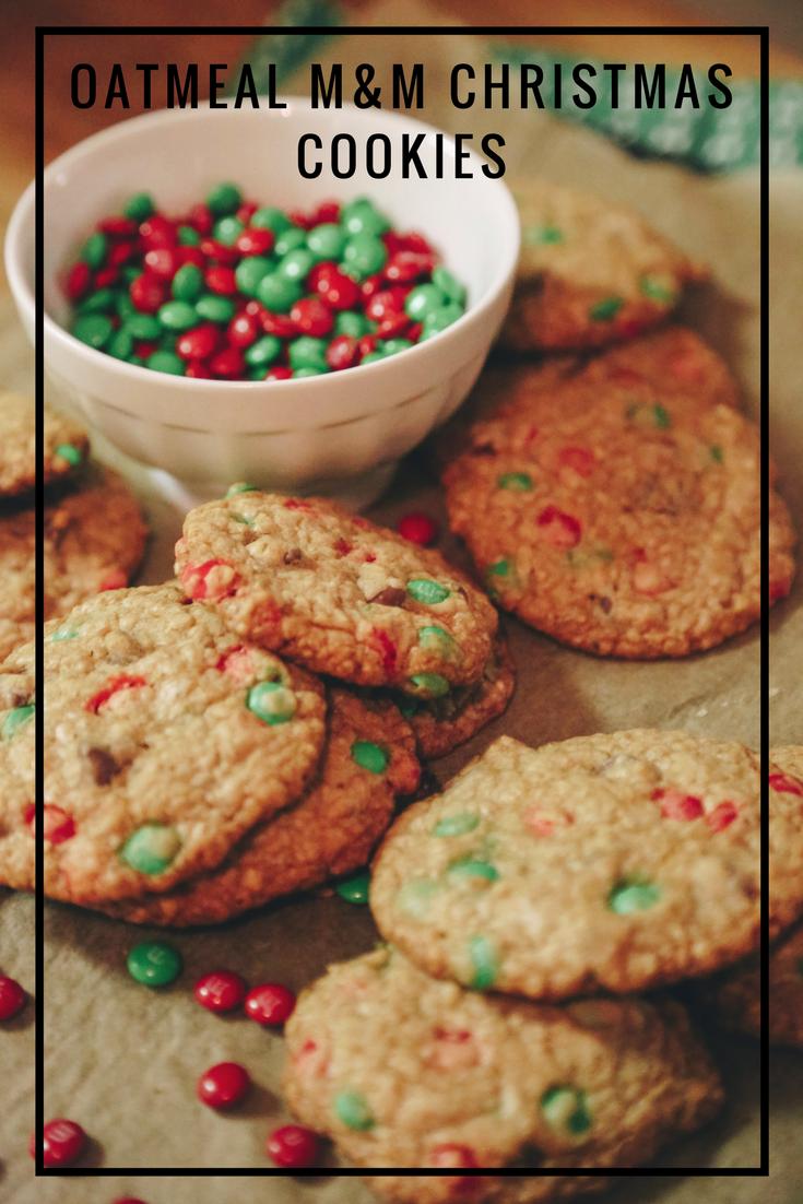 Recipe: Oatmeal M&M Christmas Cookies — Frame 2 Table