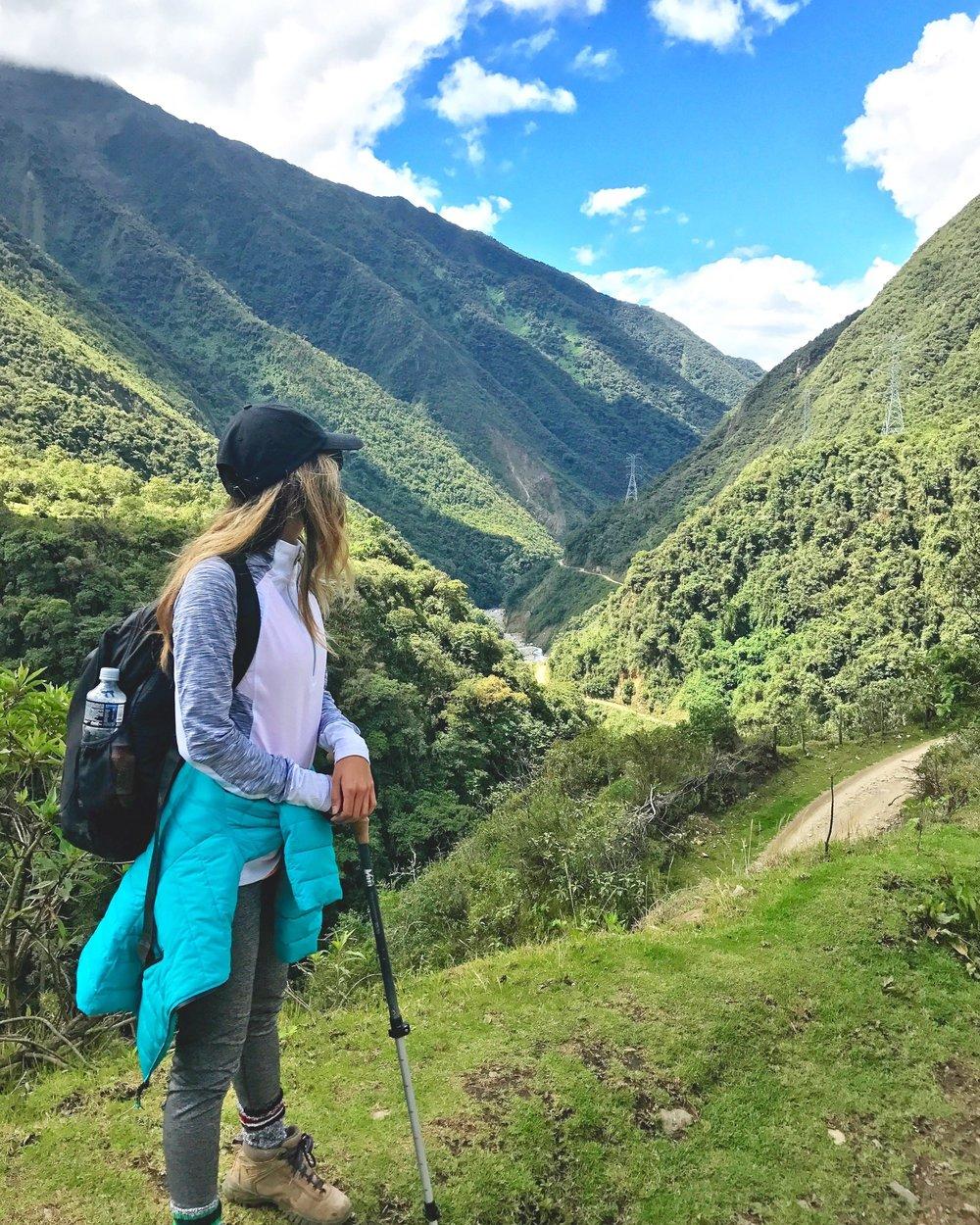 when she roams at Salkantay trail cusco peru