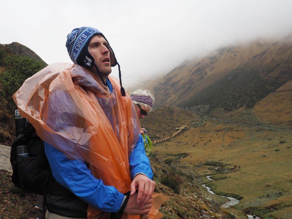 Hiker on the Salkantay Trek, Peru 2017