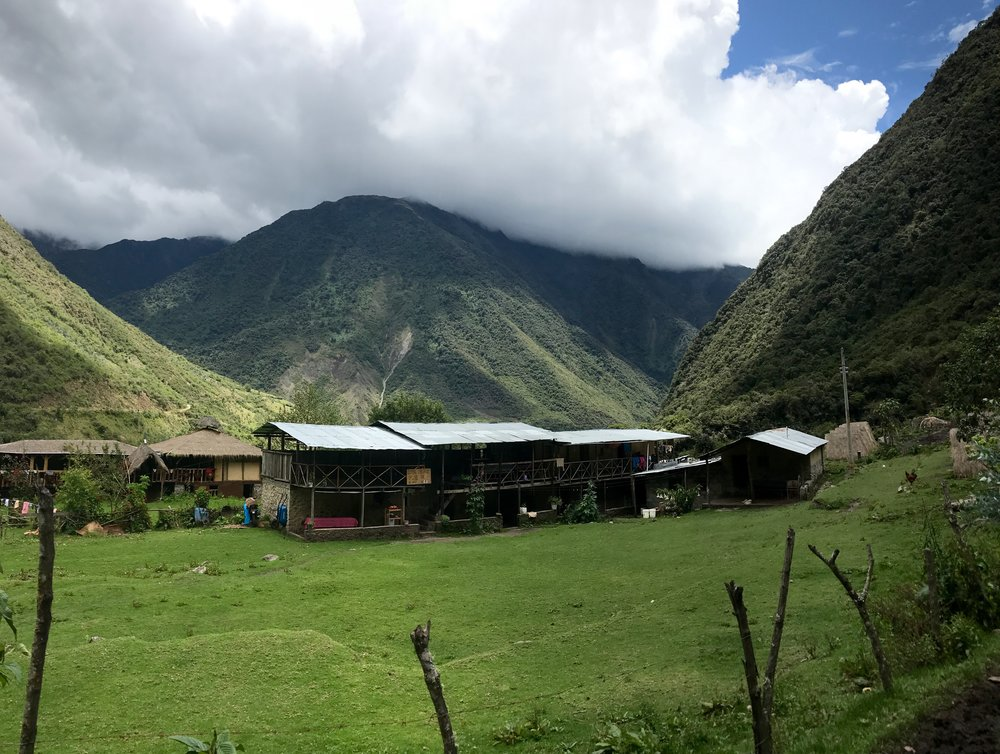 Rest area on the Salkantay Trek, Cloud Forest, Peru 2017