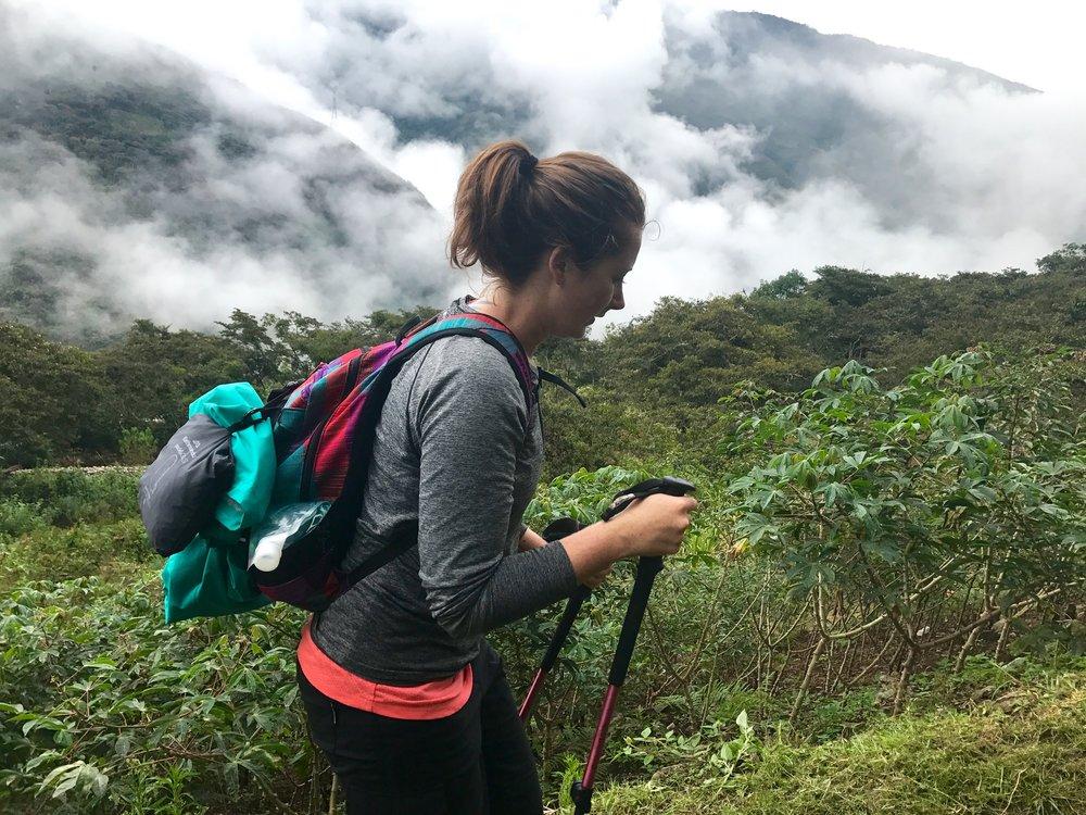Hiking to the Inca site Llactapata, Salkantay Trek, Peru 2017