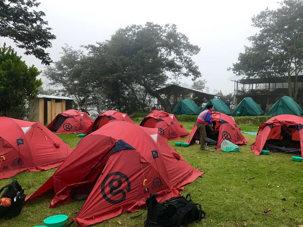 G Adventures, Campsite in Playa Sahuayaco, Salkantay Trek, Peru 2017