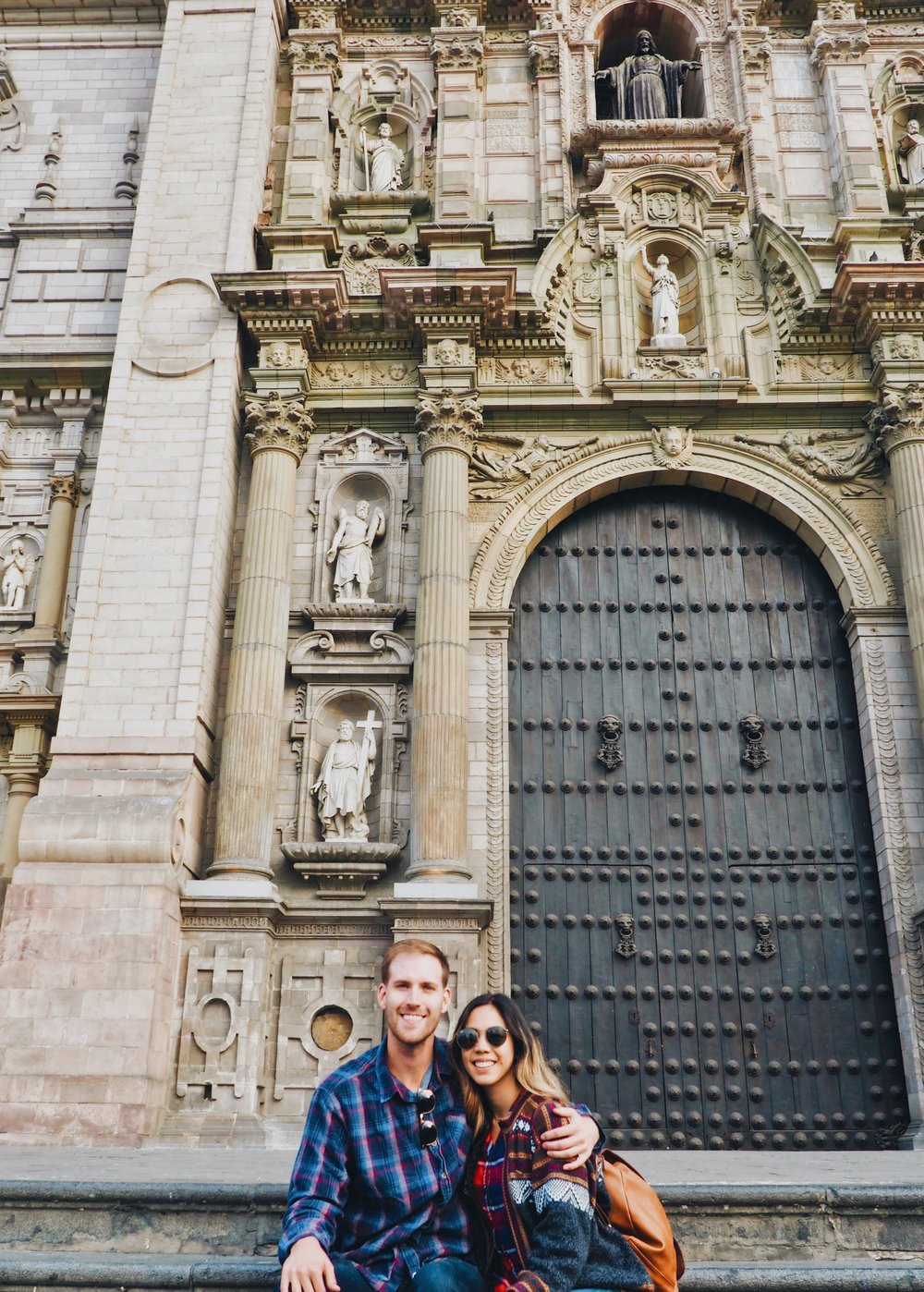 Basilica Cathedral, Plaza de Armas of Lima, Peru