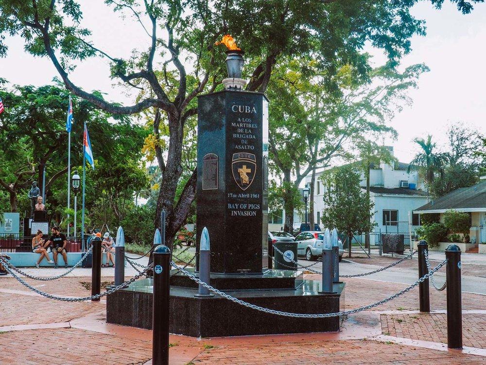 Bay of Pigs Invasion Monument, Little Havana, Miami, FL.