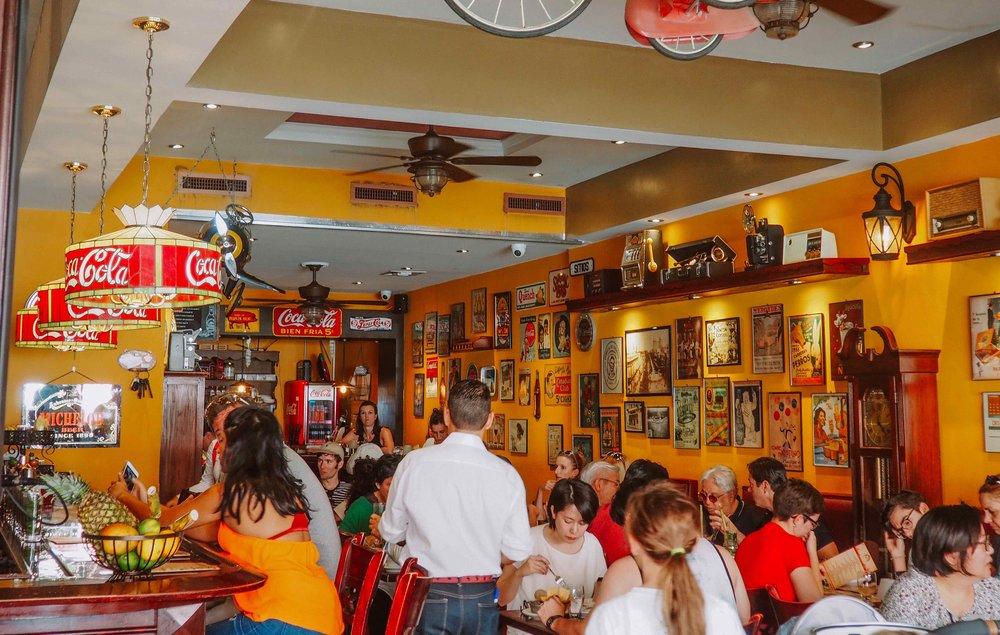A restaurant in Little Havana, Miami, FL.