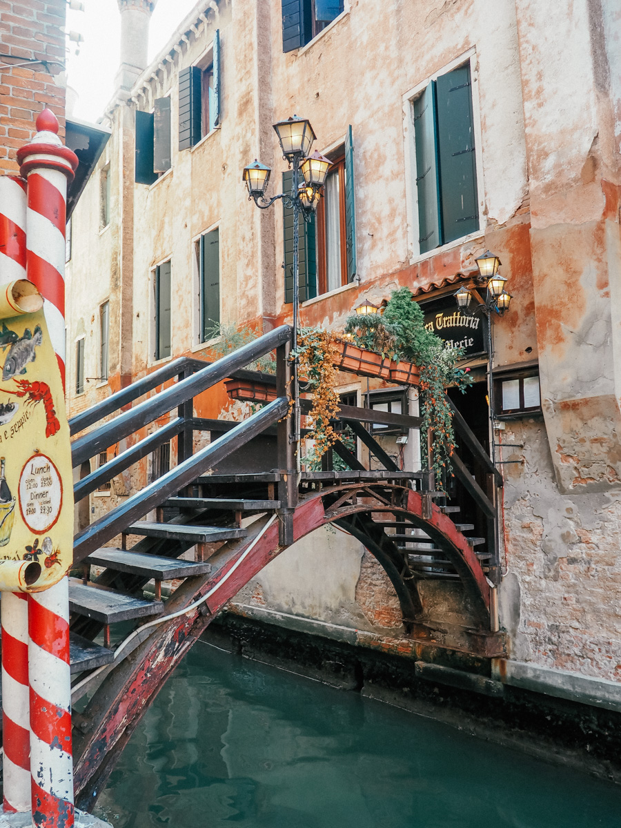 a beautiful bridge in venice italy