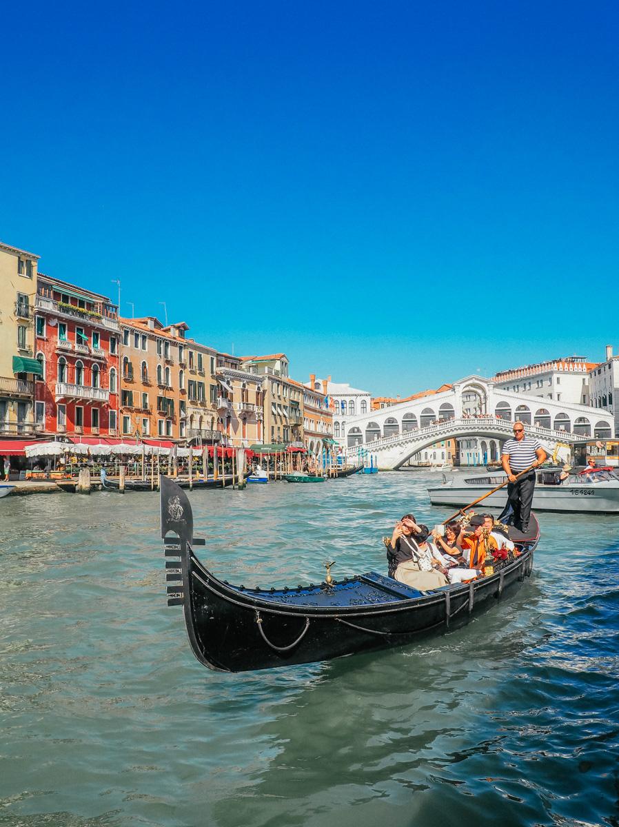 Gondola near the Rialto Bridge, Venice, Italy, 2018
