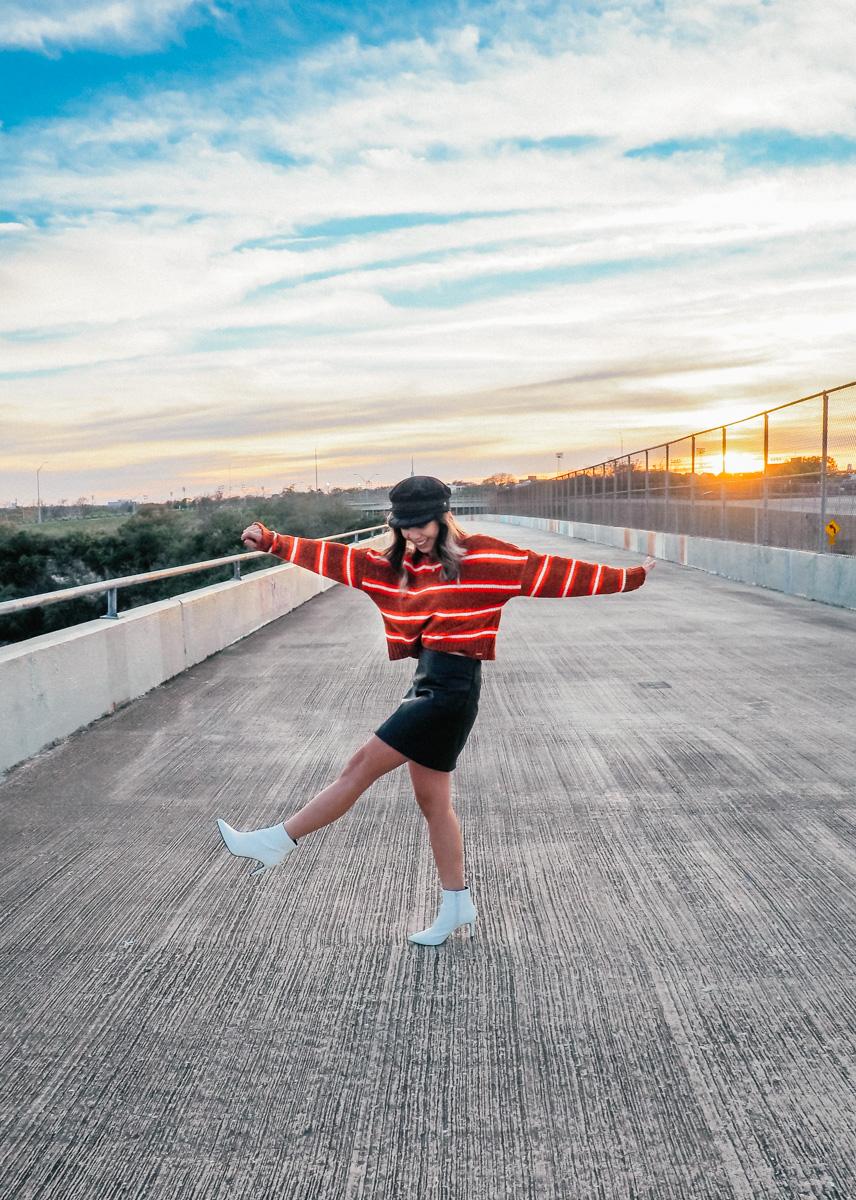blogger sunset shoot texas