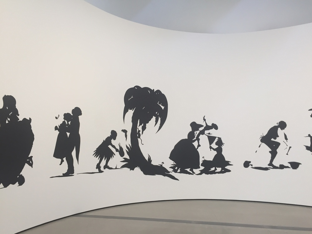 Picture I took at The Broad Museum in Los Angeles of Kara Walker's work.
