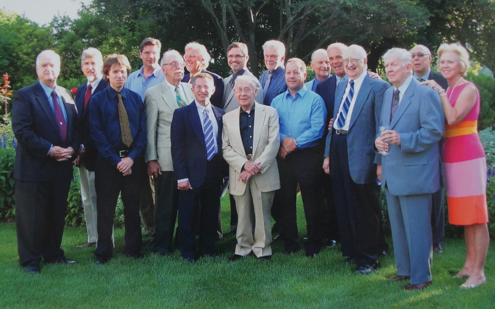 At The Governor's Residence (2010).  Pictured Left to Right: Joe Dudding, Steve Wetzel, Jonathan Frazier, Brian Eppley, Ted Webber, David R. Henry, Robert Hughes, John McNulty, Earl Blust, Ralph Hocker, Barry Ginder, Bob Zimmerman, Governor Ed Rendell, Karl Foster, Don Lenker, Bill Kerman, Mrs. Rendell