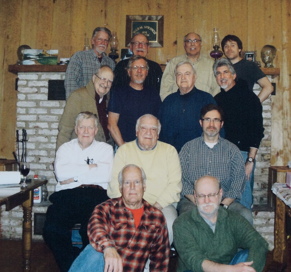Back row left to right:  Ralph Hocker, Ted Webber, Bill Kerman, Jonathan Frazier Third row left to right: Karl Foster, David R. Henry, Joe Dudding, Steve Wetzel Second row left to right: Don Lenker, Dom Brandt, John McNulty Front row left to right: author Larry Zimmerman, Paul Gallo