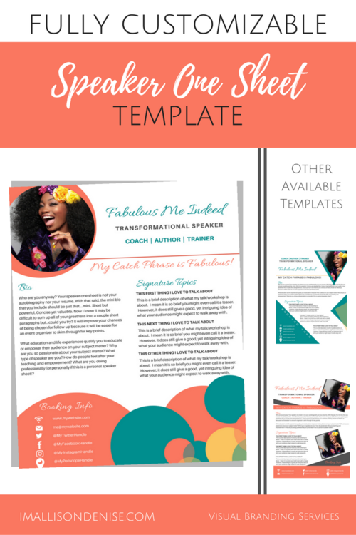 one sheet template free download
