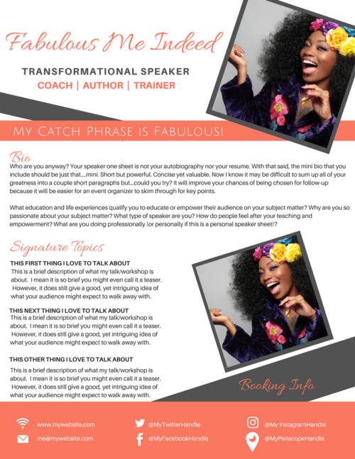 speaker one sheet template boxed brand it beautifully