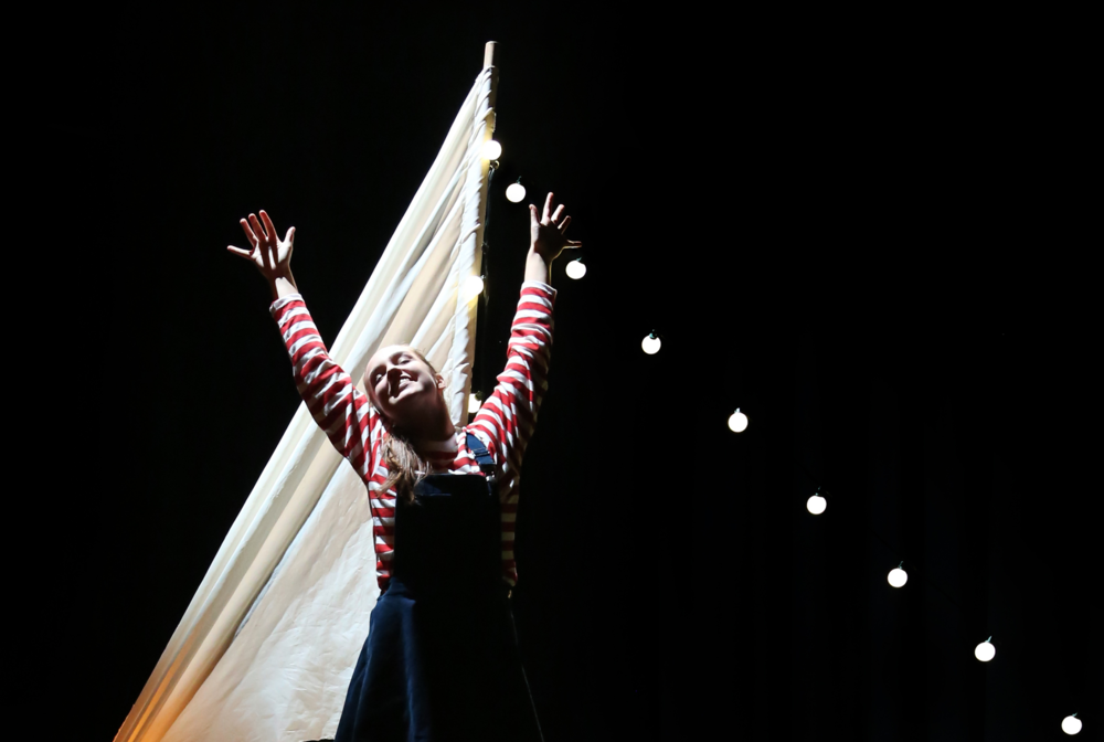 Ellen performing in The Adventures of Isabel.  Photo: Josh Hawkins.