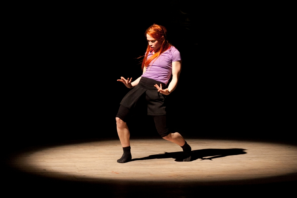Miranda performing in Thomas Small's 'Wheechin Aboot'. Photo: Jordan Anderson.