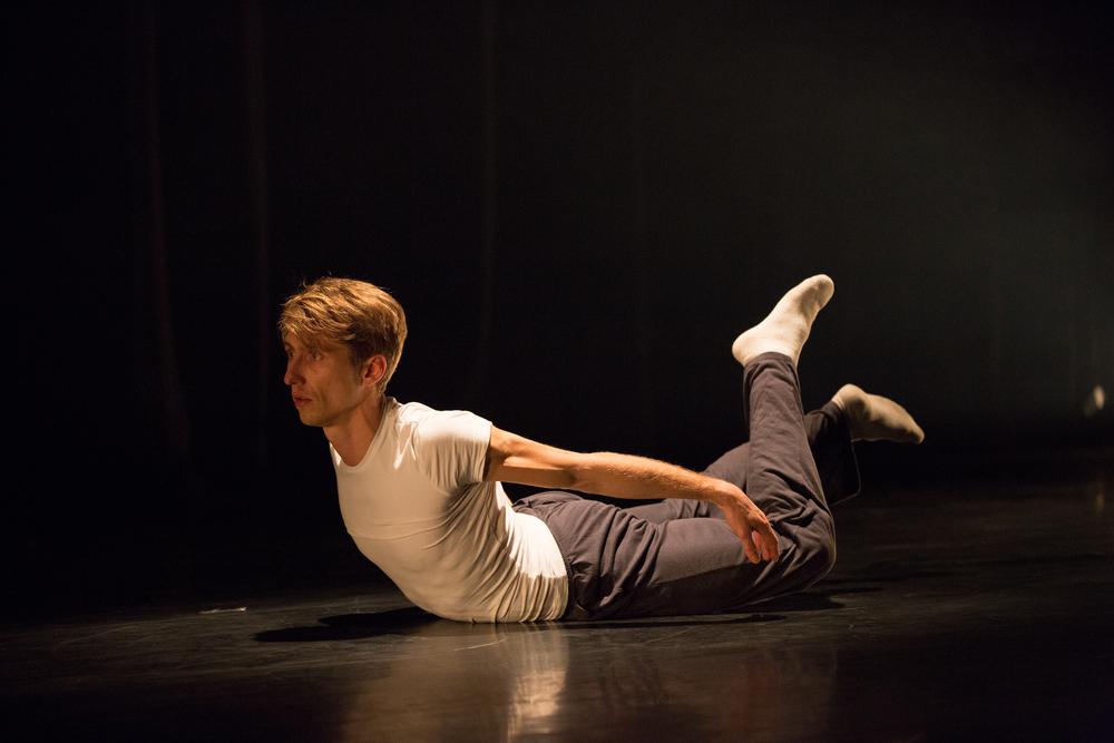 Dancer: Romain Guion. Photo: Sid Scott.