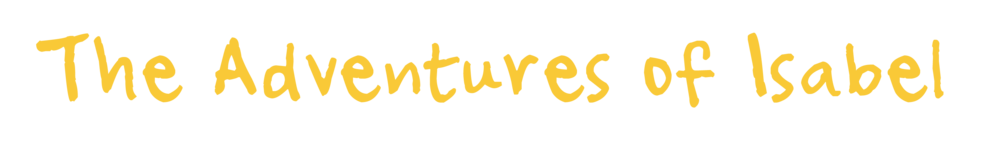 The Adventures of Isabel logo - Yellow text on transparent background PNG file
