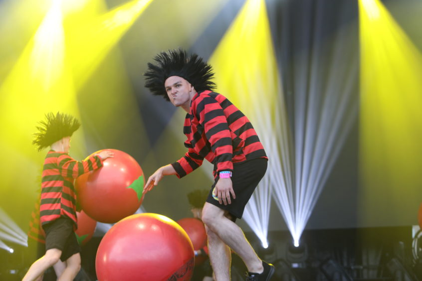 Rob as one of the Dennis the Menace's as part of the V&A Dundee opening performance.