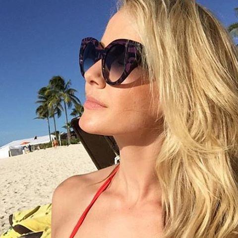 752f1ef74dada Fendi Fanny Oversized Thick Frame Cat Eye Sunglasses — Designer Daydream